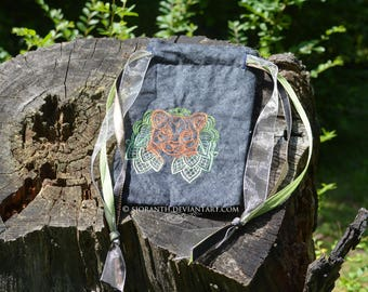 Embroidered Pouch - Cougar