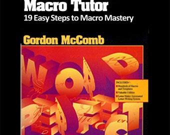 WordPerfect for Windows Macro Tutor -- 19 Easy Steps to Macro Mastery -- Instant Download eBook