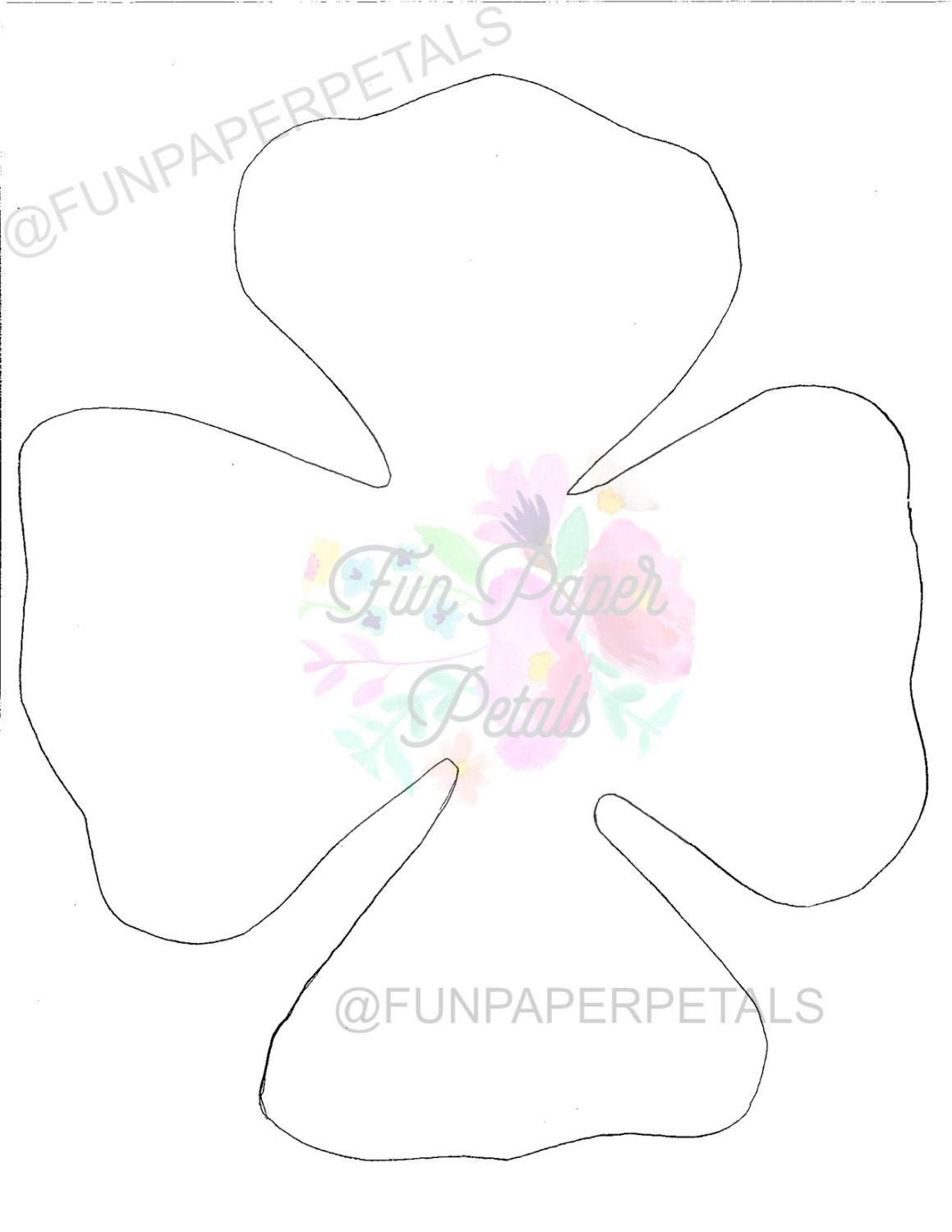 Paper flower printable flower template flower template paper flower this is a digital file mightylinksfo