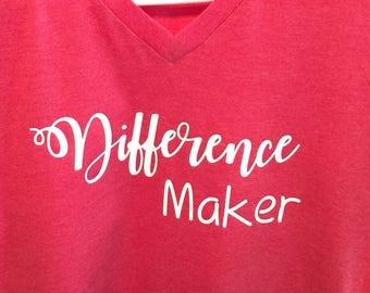 DIFFERENCE MAKER teacher shirt classroom teacher teacher gift