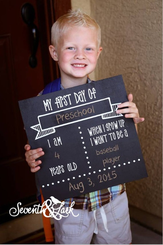 Diy kit first day of school sign chalkboard sign craft zoom solutioingenieria Image collections