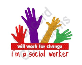 Social Worker Hands - Machine Embroidery Design