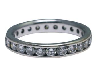 Diamond 18ct Gold Channel Set Eternity Ring