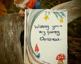 Gnomey Christmas card.