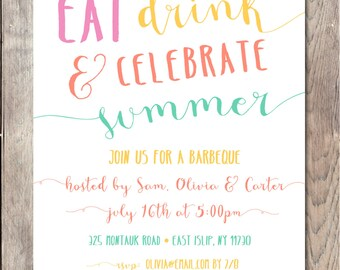 Bbq Invitation Bbq Party Invitation Barbecue Invitation