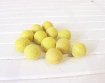 Chartreuse Felt Balls 12 count