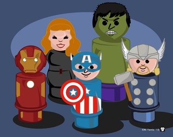 Avengers Little People Print 10x8 print