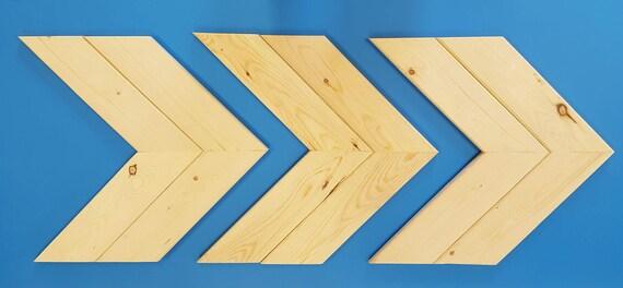 Large Wooden Arrow Chevron SET OF 3 Wood Arrows Wall Art