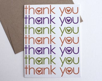 Thank You Card – Thanks Card – All Occasion Card – Thank You Note