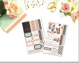 Coffee Girl Happy Planner 2 Page Kit