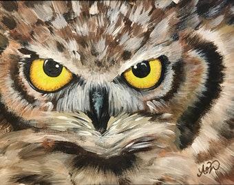 Custom Owl Eyes Painting