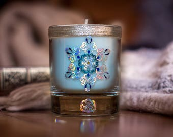 Winter SNOWFLAKE Soy Candle