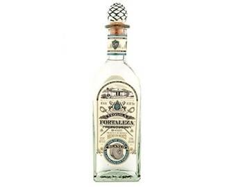 Tequlia Fortaleza Blanco Tequila  - Empty bottle - rustic centerpiece