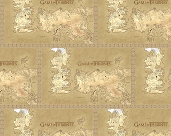 Game of Thrones Fabric HBO Map Of Westros From Springs Creative 100% Cotton