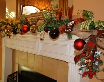 Christmas Cabin Garland - Example Only