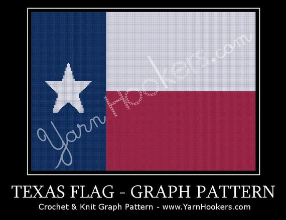 Texas State Flag Lone Star Afghan Crochet Graph Pattern