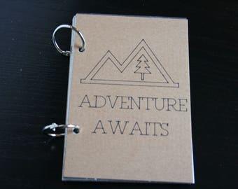 Adventure Awaits Travel Journal, Smash Book, Junk Journal, Memory Keeping, Travel Journal, Travelers Notebook, Travel Gift