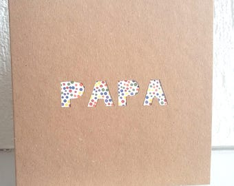 Dad card, love, handmade, custom map card card father's Day card and envelope, greeting card