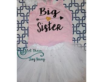 Big Sister Shirt Little Sister Shirt Pregnancy Announcement Shirt Sibling Shirts Sister Shirt Baby Announcement Shirt Gold Glitter shirt