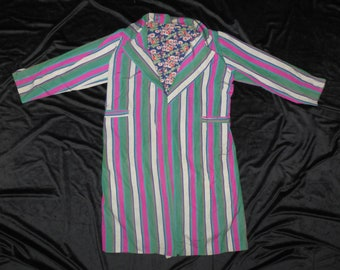 Long, traditional, Uzbekistan, striped, chapan, coat, robe #160