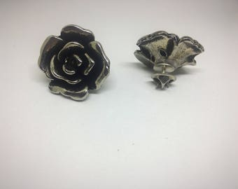Silver rose collar pins - Sweater pins - Gift under 10 - Gift for her - Lapel pins - Silver roses - Rose collar pins - Gift for her - Gift