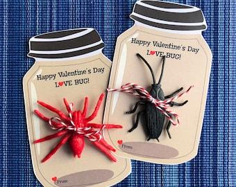 Love Bug Valentines - Instant Download - Valentine's Day Digital Printable -  Digital Valentines - Kids Valentines - Bug Valentines - Bugs