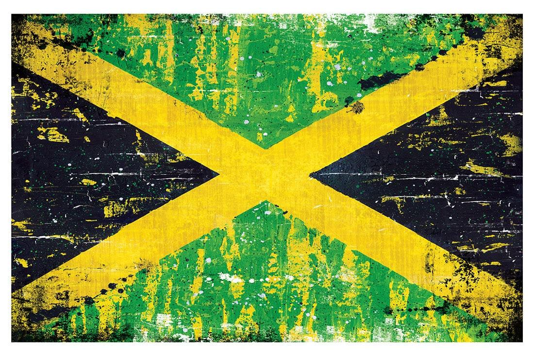 Jamaican Flag 18 X 12 Art Print Poster Jamaica