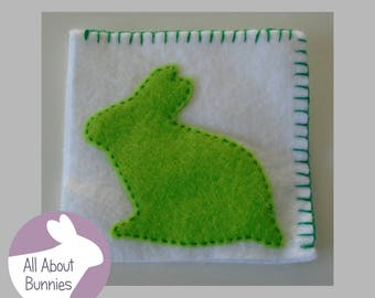 Handmade Felt Corner Bookmark Bunny Rabbit