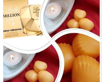 Lady million, wax melts UK, highly scented wax melts, wax melts in a bag, gift idea, cheap wax melts, wax melt tablet, soy wax melts