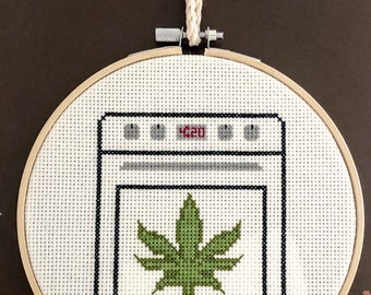 Baked with Love 4:20 Funny Crass Cross Stitch