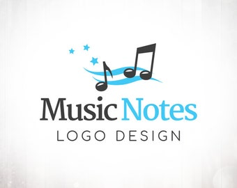 Premade Logo Design • Music Notes