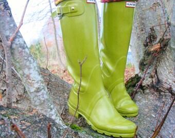 Tall Boot Socks, Boot Cuff, SLUGS Fleece Rain Snow Boot Liners Turquoise Geometric Tribal Southwest Cuff, Winter Fashion (Med/Lg 9-11 Boot)