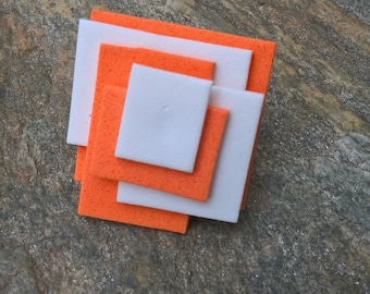 Orange and white rubber ring
