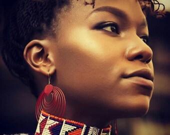 ZULU CHOKER, Women Necklace, African Jewelry, Bohemian jewelry, Statement Necklace, Choker Necklace, Choker, Beaded Necklace