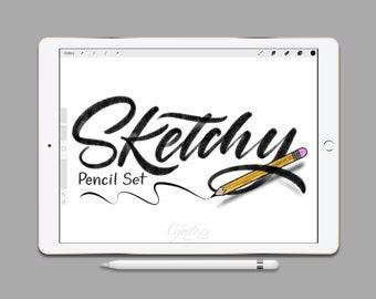 Procreate Brush Sketchy Pencil Brush Set