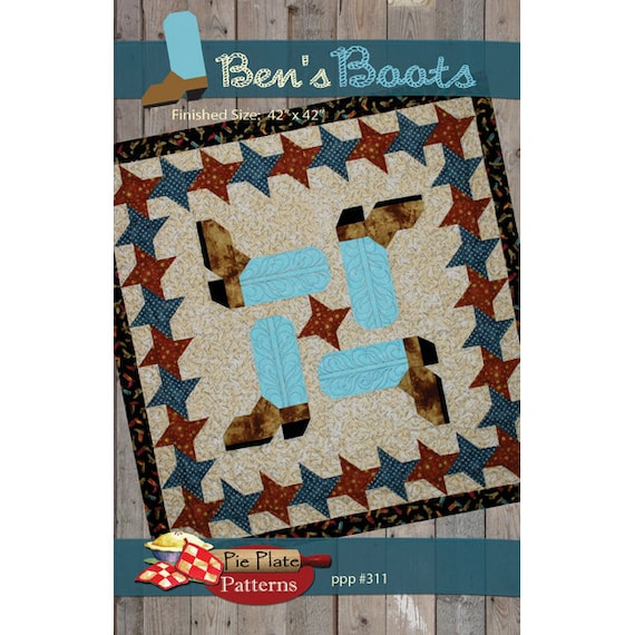 sc 1 st  Etsy & Benu0027s Boots quilt pattern by Pie Plate Patterns