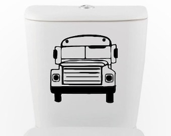 PARK IT- Independent Bus DECAL-toilet, Home Decor, Vinyl Wall Art, Shower, Bathroom, Interior Design