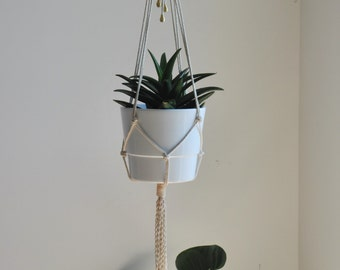 plant hanger, hanging planter, macrame wall decor, macrame planter, indoor plant hanger, scandinavian design planter, modern plant holder