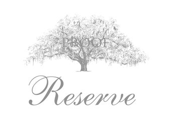 Tree Themed Wedding Signs - Custom Wedding Paper Goods - Reserved for Maggie