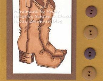 2191 Cowboy Boots Digi Stamp