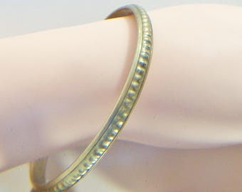 Textured Brass Bangle Costume Jewelry Fashion Accessories For Her