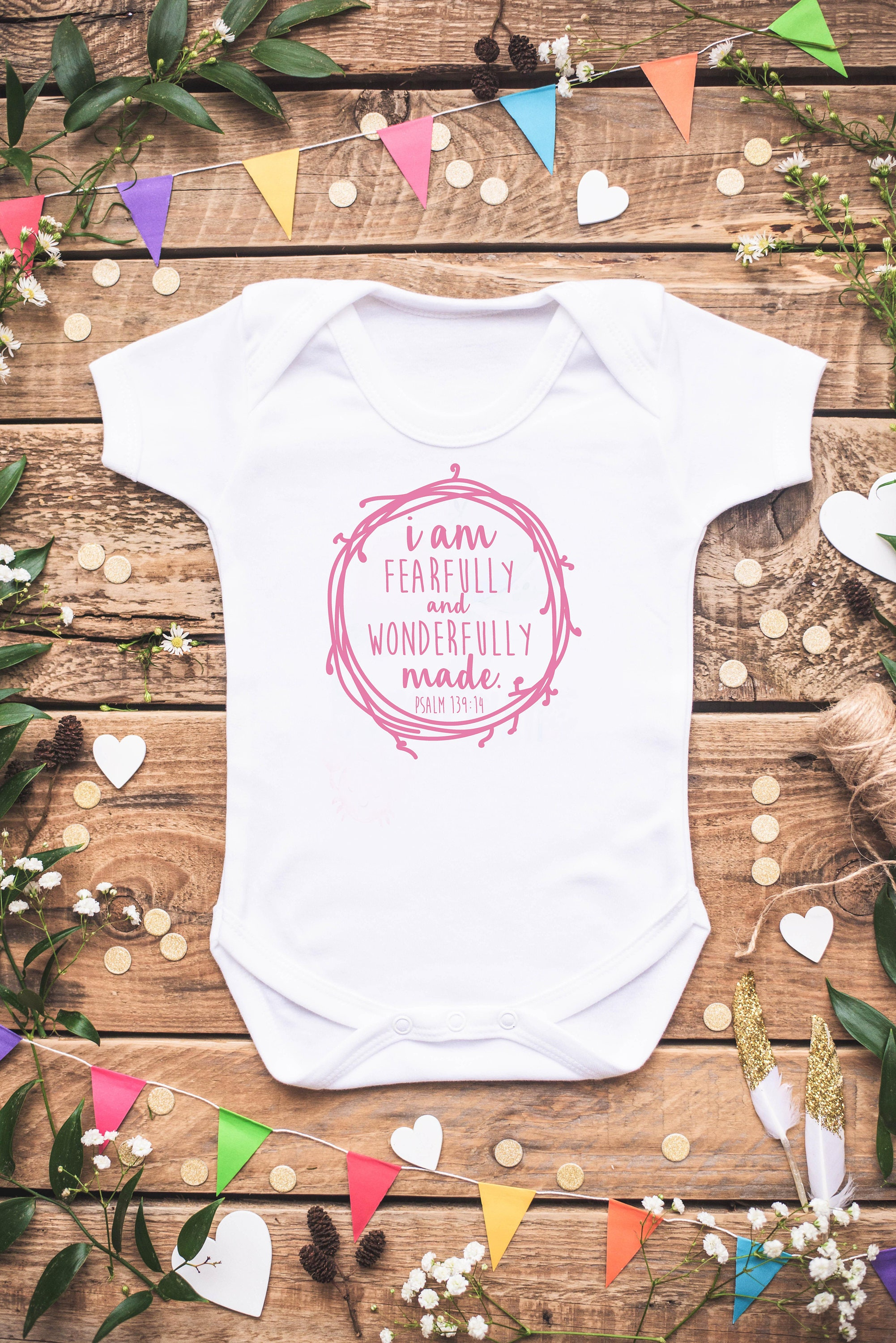 I am Fearfully and Wonderfully Made Psalm Baby Shirt Baby Girl