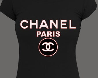 Chanel Paris Shirt // Women's Chanel Tee // Chanel Shirt