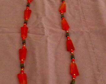 Plastic Geometric Beaded Necklace