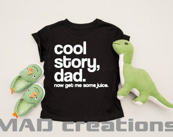 Cool Story Dad - Children's hipster retro shirt