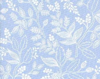 Queen Anne Pale Blue Les Fleurs by Rifle Paper Co for Cotton and Steel Fabric #8005-01