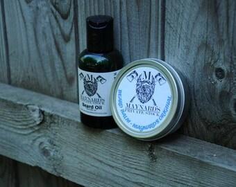 Beard Oil and Beard Balm Beard Kit - Maynard's Original (Clove scent beard oil & beard balm) top selling items self care essential oil blend