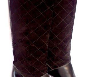 Vintage Lanvin black leather boots size 4 (EU 37)