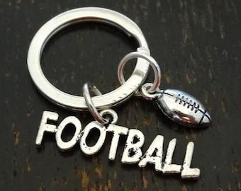 Football Keychain, Custom Keychain, Custom Key Ring, Football Key Chain, Football Coach Gift, Football Dad, Football Mom, Football Charm