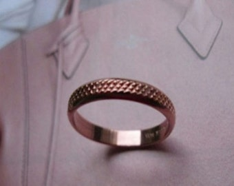 Solid Copper Band Ring 065 Available in sizes 5 to 11 - 1/8 of an inch wide